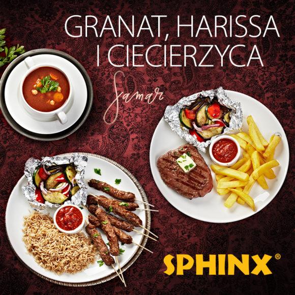 """Granat, harissa i ciecierzyca"" w restauracjach Sphinx"