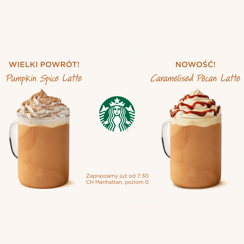 STARBUCKS: nowe latte