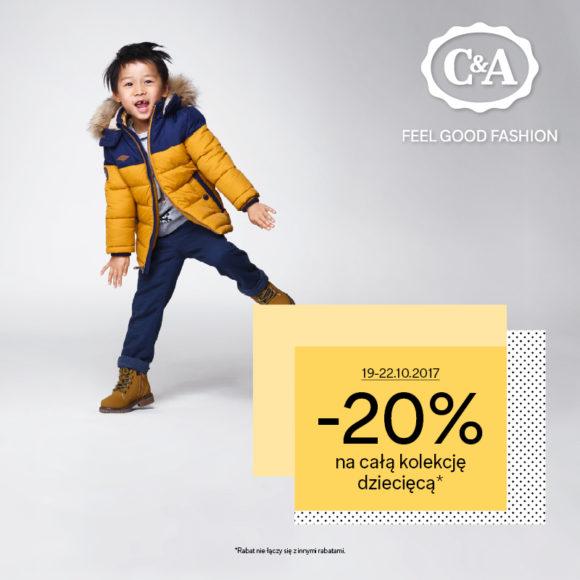 C&A: -20% na kolekcję dziecięcą