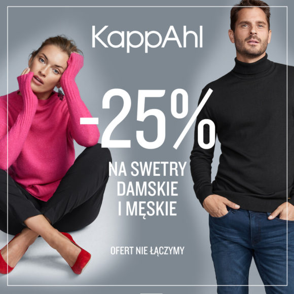 KAPPAHL: -25% na swetry damskie i męskie