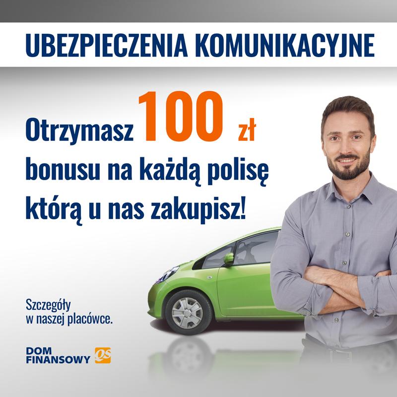 QS: teraz ekstra 100 zł bonusu na każdą polisę komunikacyjną