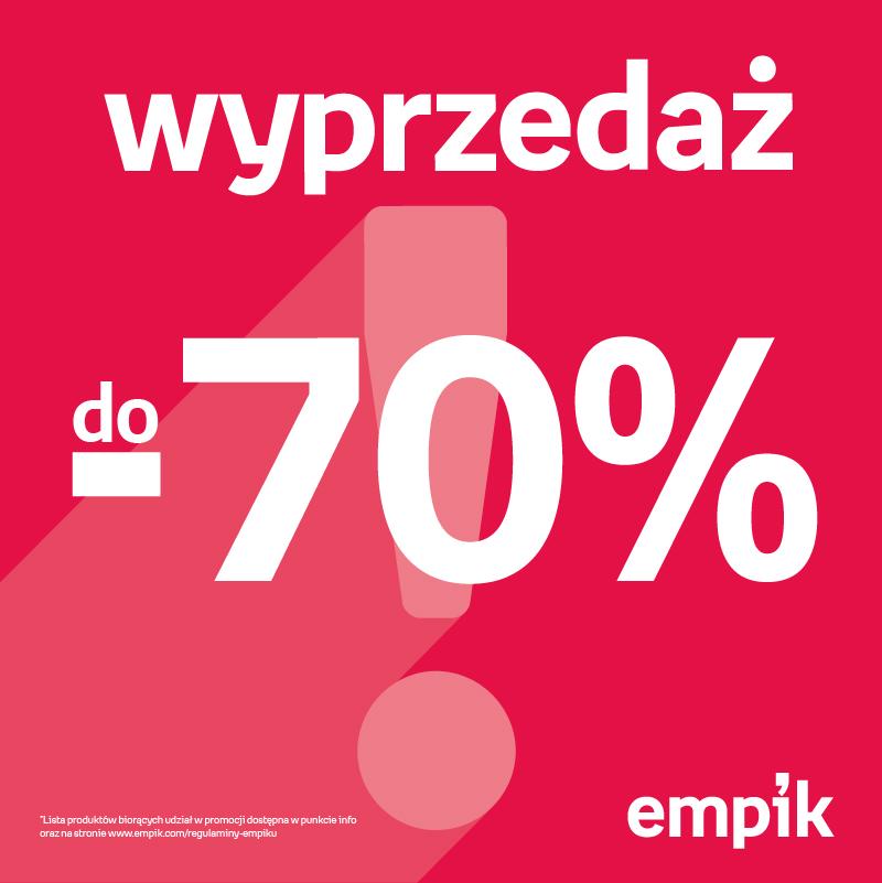 EMPIK: wyprzedaż do -70%