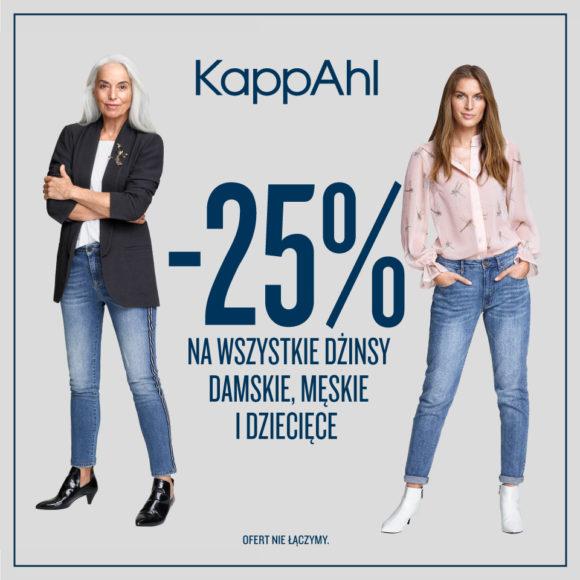 KAPPAHL: -25% na jeansy
