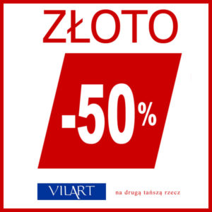 VILART: -50% na drugą złotą rzecz