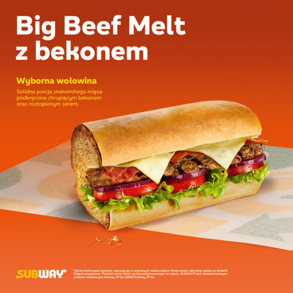 SUBWAY: Big Beef Melt  z bekonem