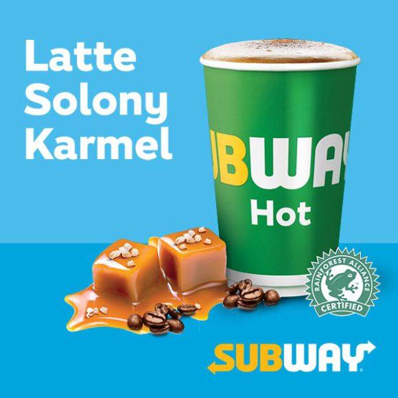 SUBWAY: latte solony karmel