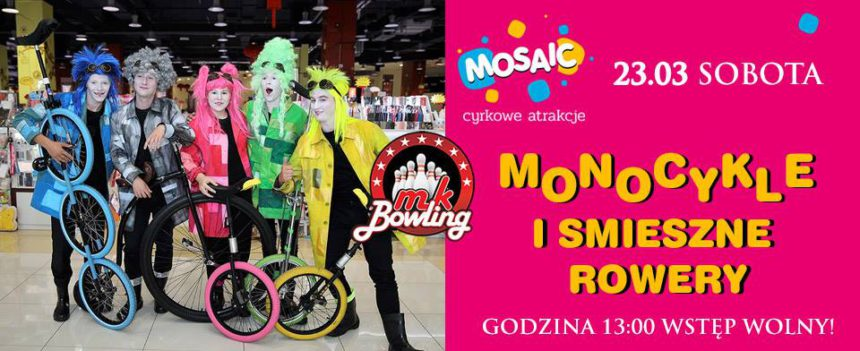 MK BOWLING: motocykle i śmieszne rowery / Mosaic