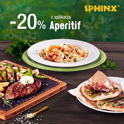 SPHINX: nowości -20% z aplikacją APERITIF