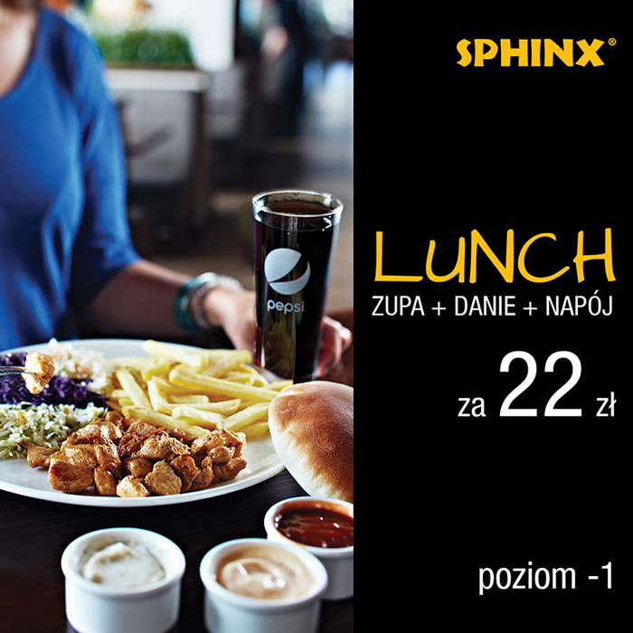 SPHINX: lunch za 22 zł