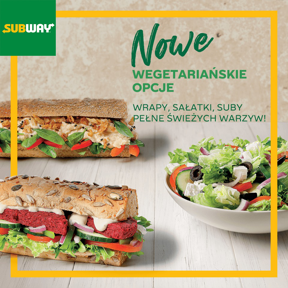 SUBWAY: nowe wegetariańskie opcje