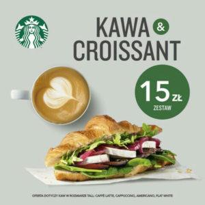 STARBUCKS: croissant + kawa w cenie 15 zł