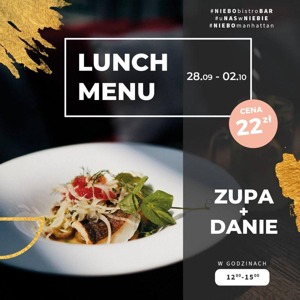 NIEBO: menu lunchowe tygodnia