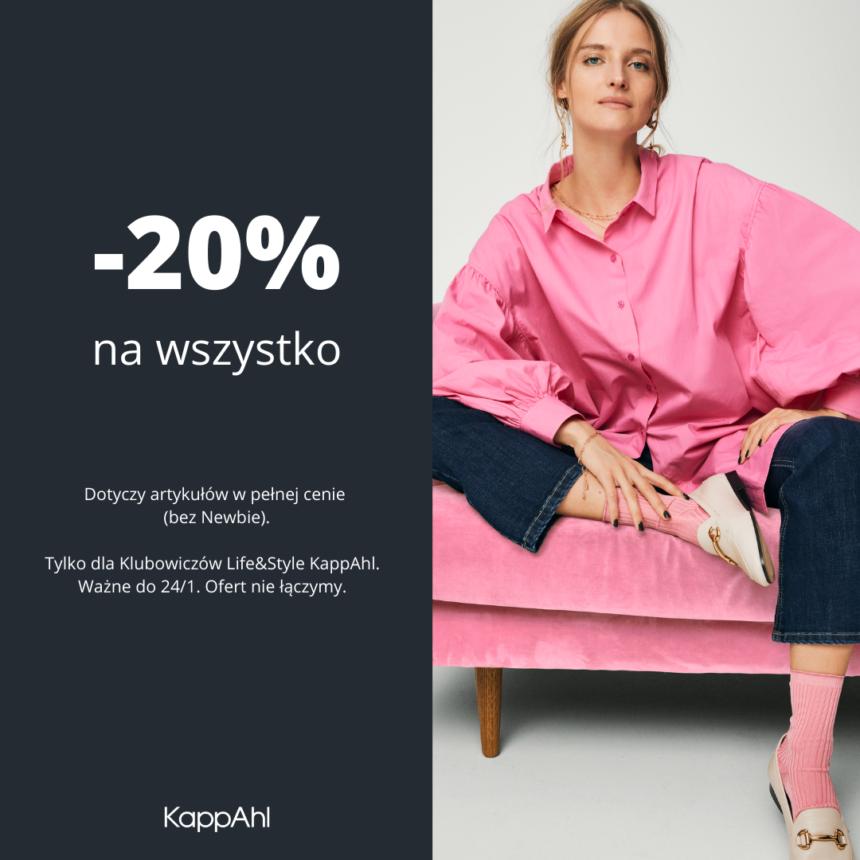 KAPPAHL: -20% na cały zakup dla klubowiczów