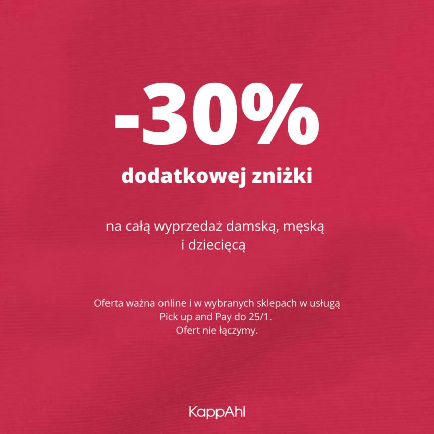 KAPPAHL: dodatkowe -30% na wyprzedaż