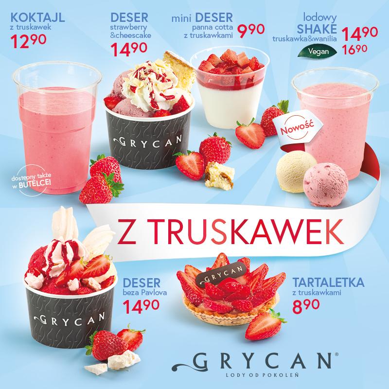 GRYCAN: oferta z truskawek
